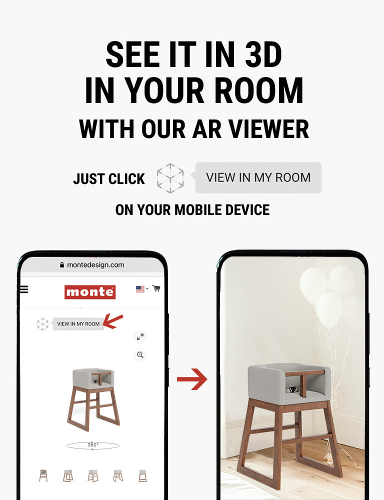 Monte AR - see Monte Tavo High Chair in 3D in your room with our AR viewer