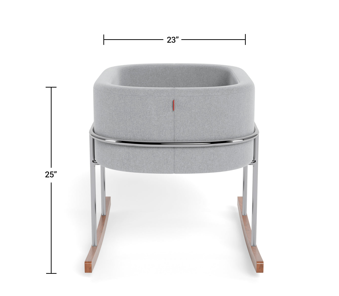 Modern Nursery Rockwell Bassinet Dimensions Side View