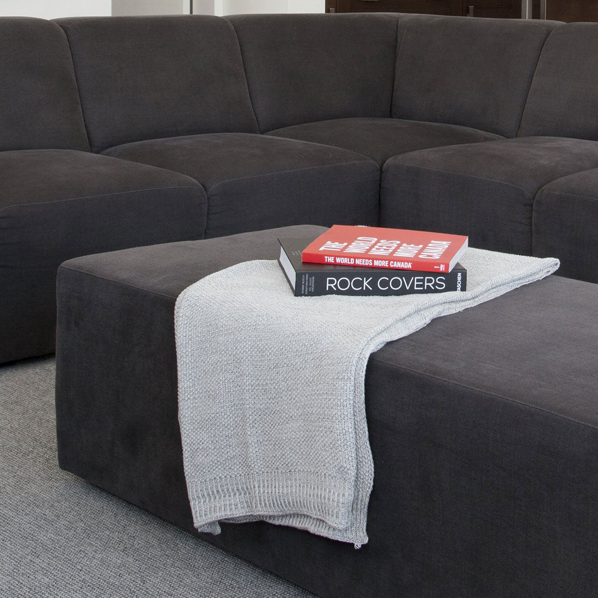 The Bruce Sofa & Sectional Collection plus Bruce Ottoman