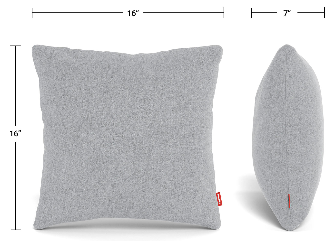 Modern Monte Design Square Toss Pillows Dimensions