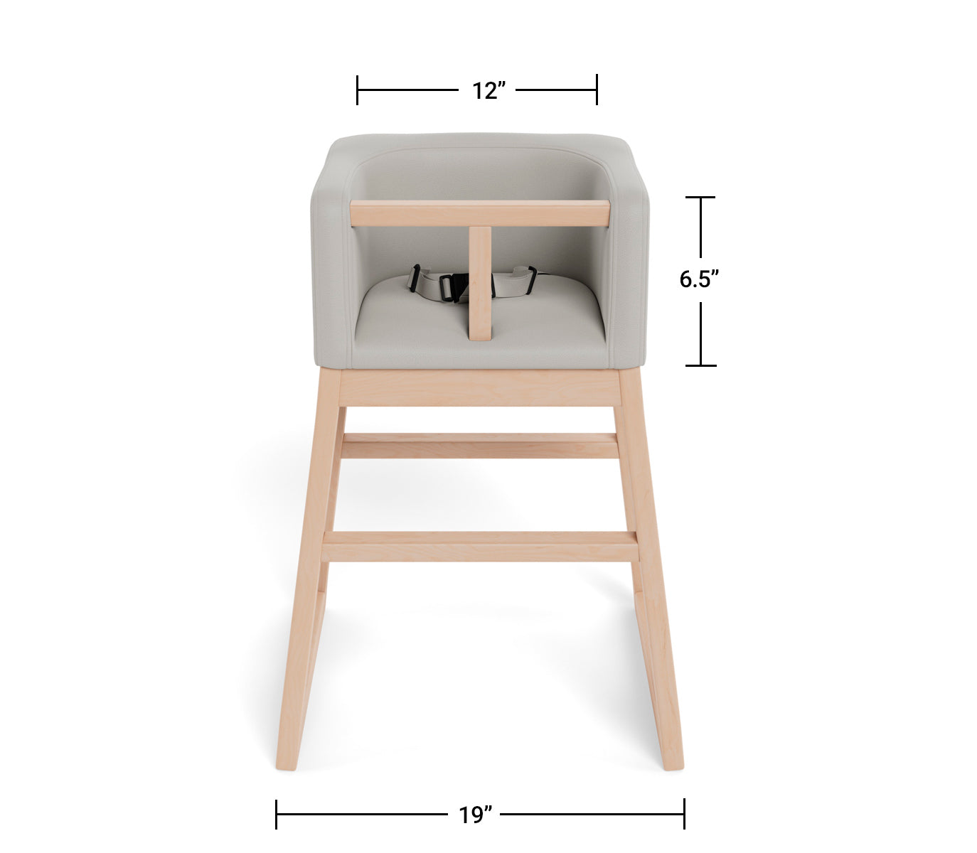 Modern Tavo High Chair Dimensions Front View