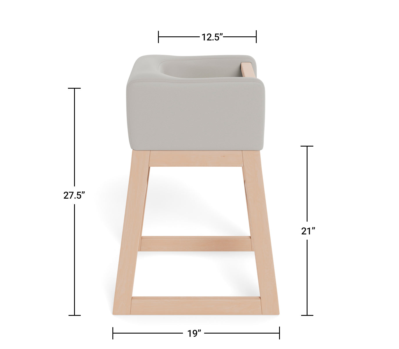Modern Tavo High Chair Dimensions Side View