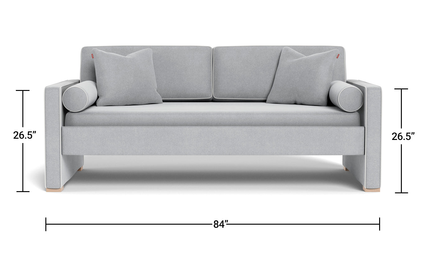 Dorma Twin DayBed - modern day bed sofa Dimensions Front View