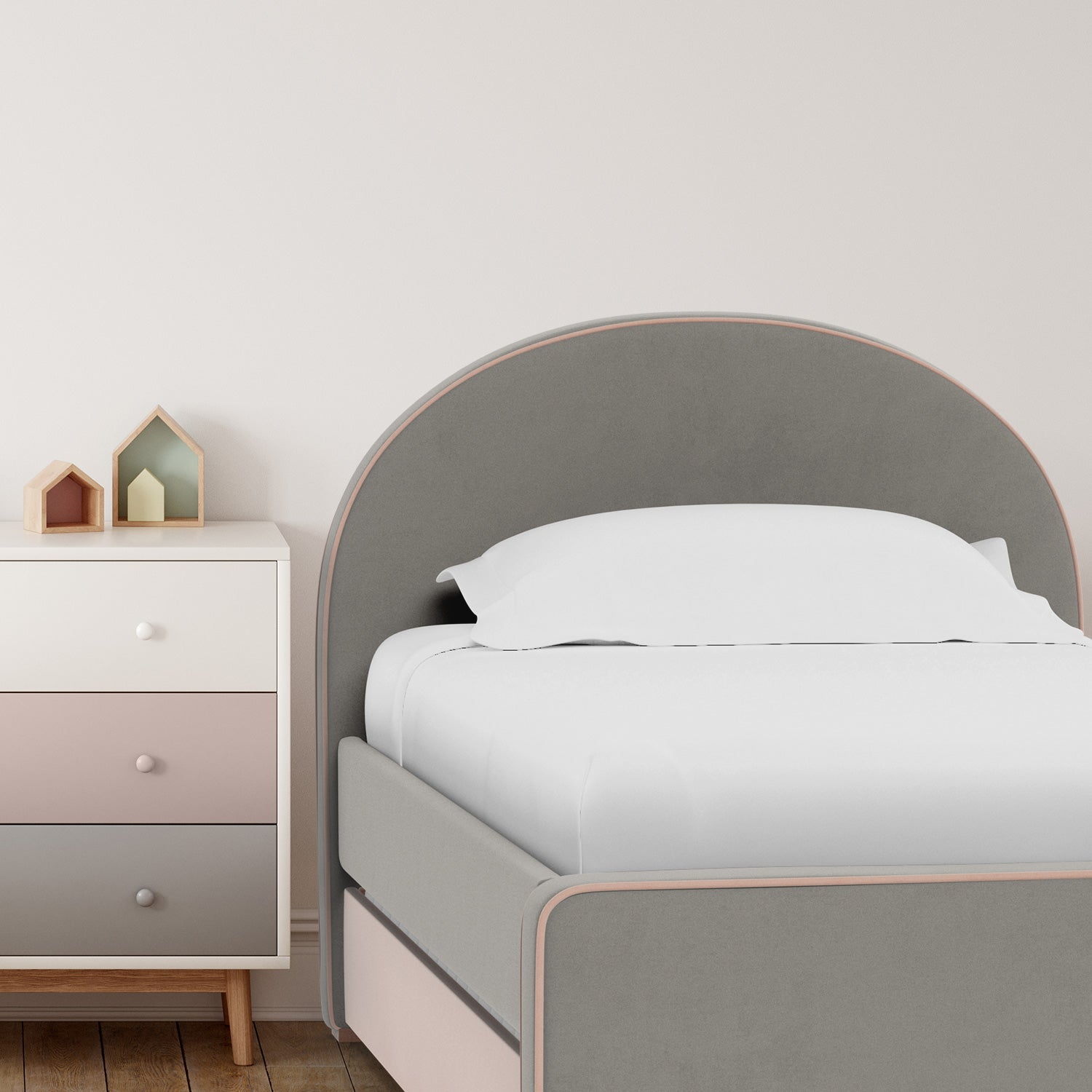 Modern Luna Twin bed with Trundle