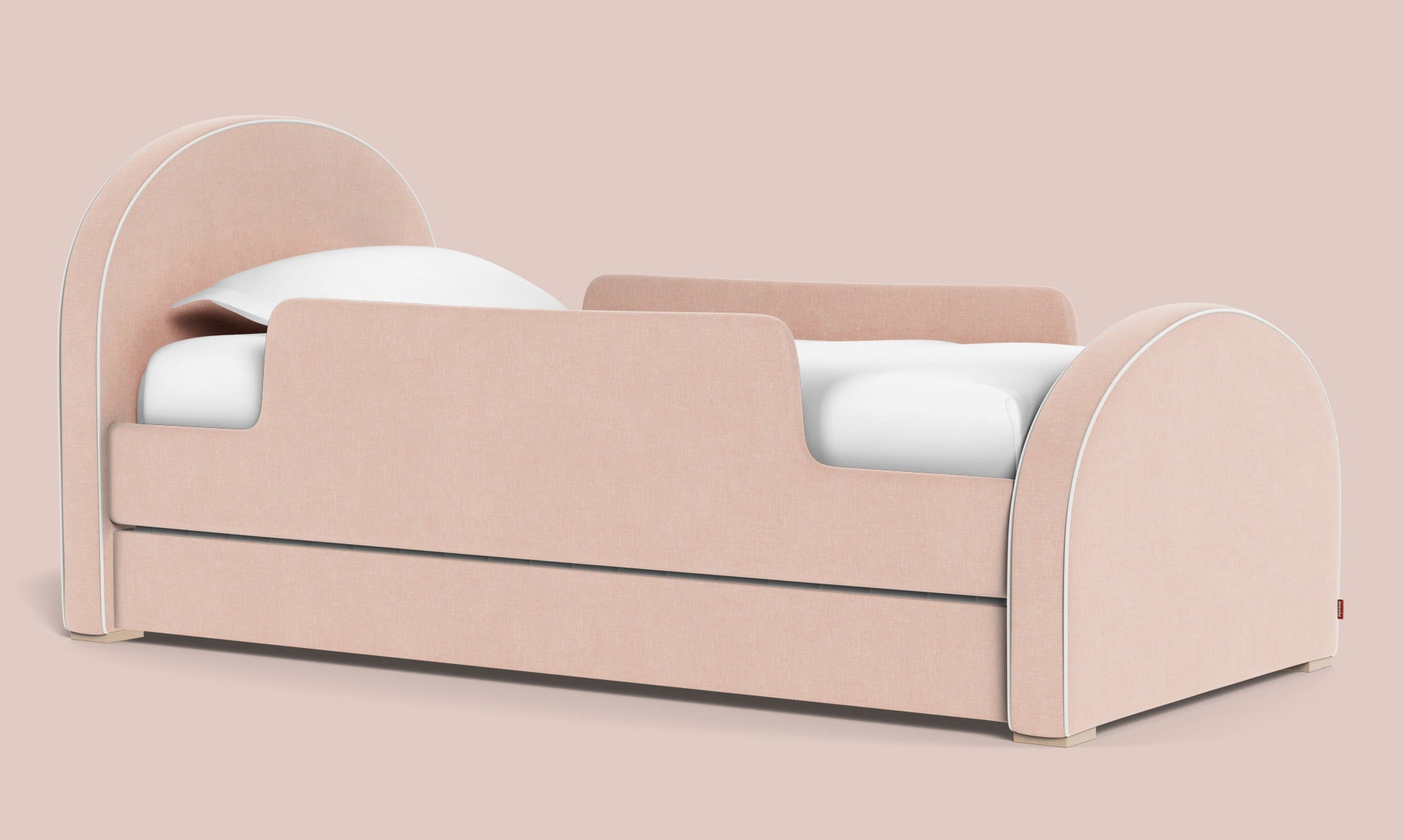 Luna Bed -modern twin and full bed with pull out trundle - arched headboard and footboard- contemporary furniture for your kid's room