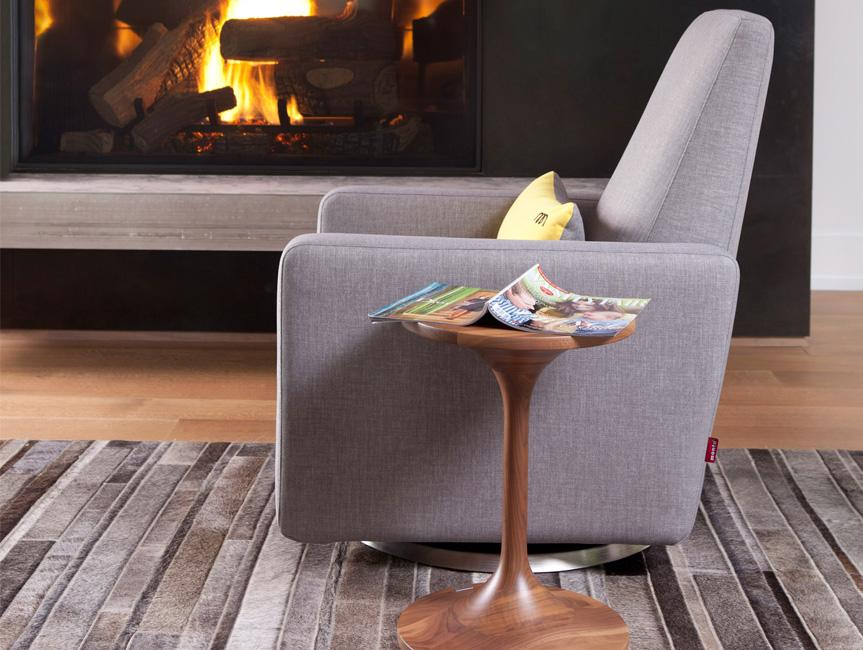 Modern Duo Side Table   Grano Glider With Duo Side Table Shown.