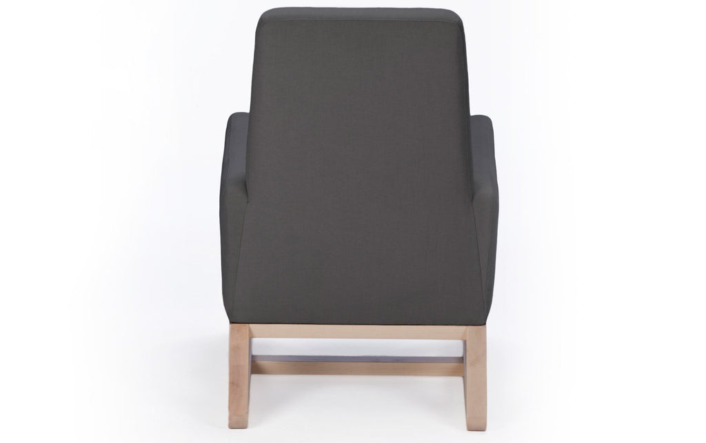 Modern Upholstered Joya Lounge -  carbon shown.