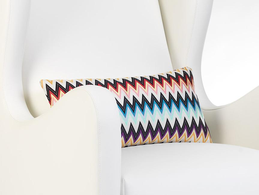 Modern Vola Glider -  white with Authentic Missoni Fabric.