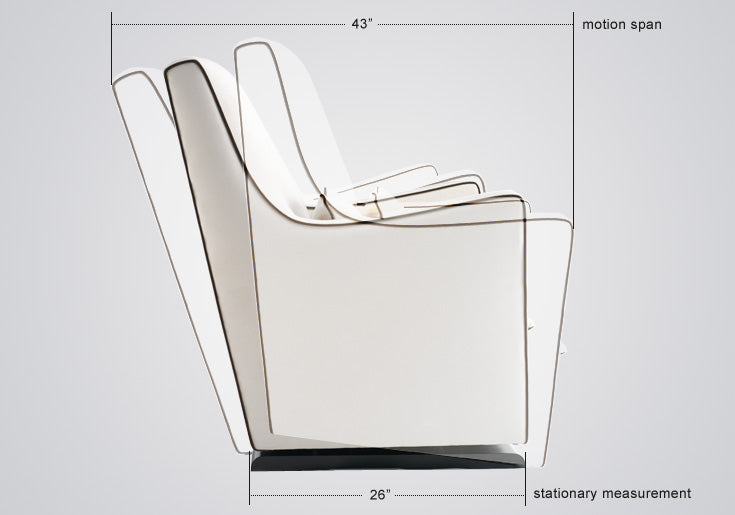 Modern Nursery Glider Chair - Luca Glider Chair Dimensions