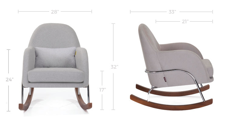 Modern Nursery Rocker - Jackie Nursery Rocker Chair Dimensions