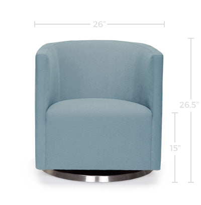 Mitchell Swivel Chair Dimensions Front View