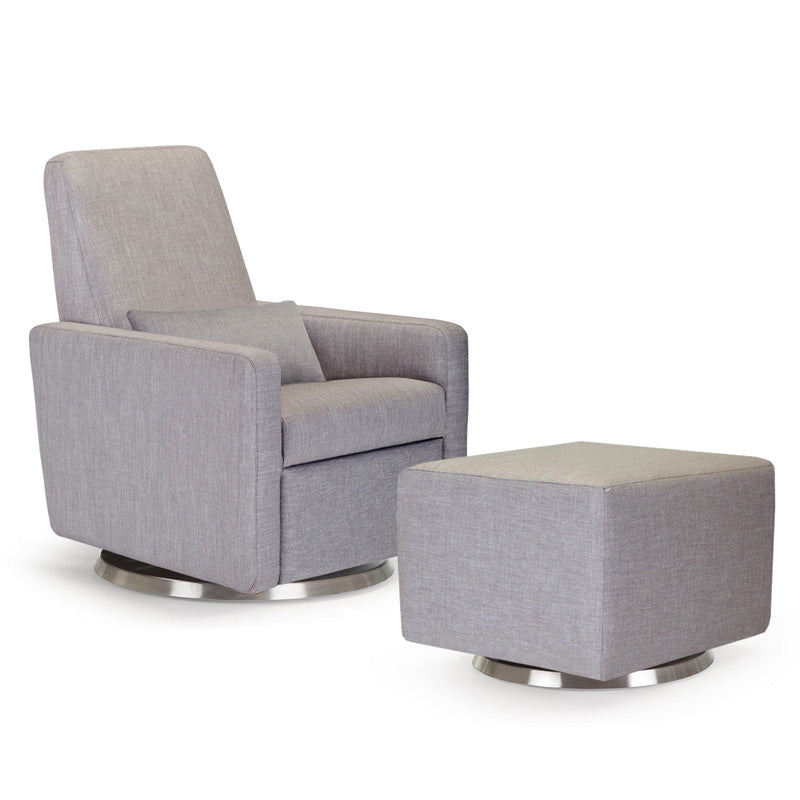 Quick Ship Grano Glider Recliner with Optional Matching Ottoman