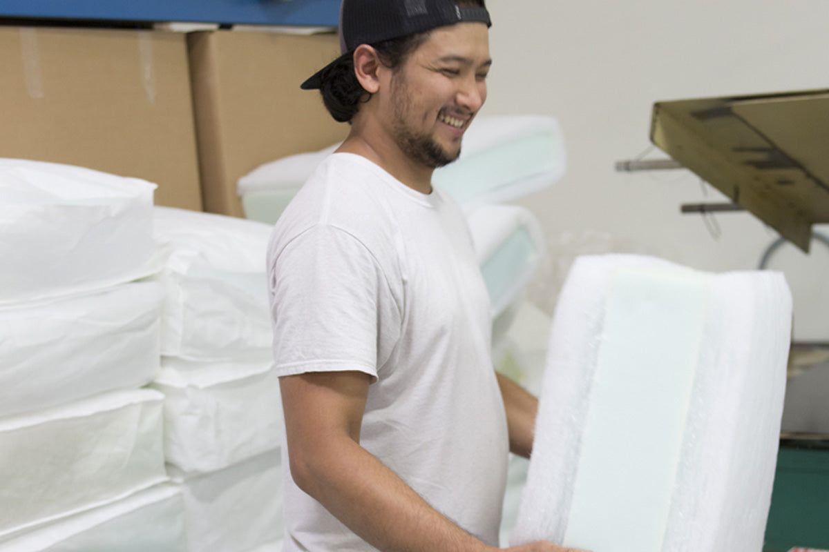 Our foam is free of any harmful flame retardant chemicals