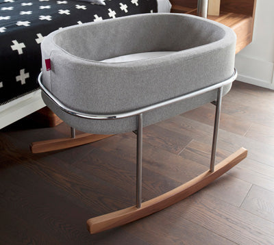Rockwell Portable Rocking Bassinet - Modern Nursery Rocking Bassinet