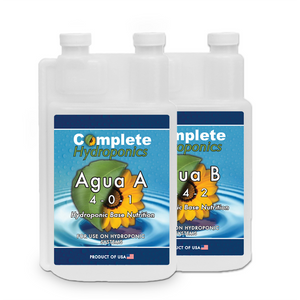 Agua A&B - Hydroponic Nutrient Solution - For dwc and soiless systems - Complete Hydroponics