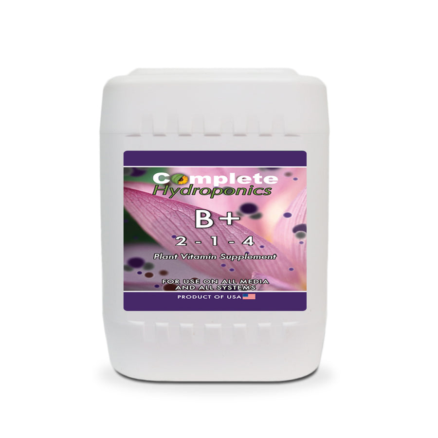 B Plus - Hydroponic Nutrient solution - Improves plant's immune system, growth, and synthesis of ATP - Complete Hydroponics