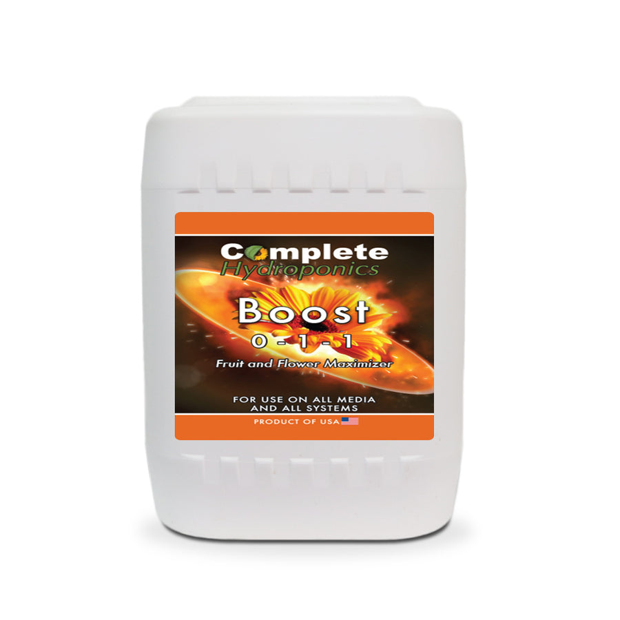 Boost - Hydroponic Nutrient Solution - Powerful Flower Enhancer (size, aroma, and essential oils) - Complete Hydroponics