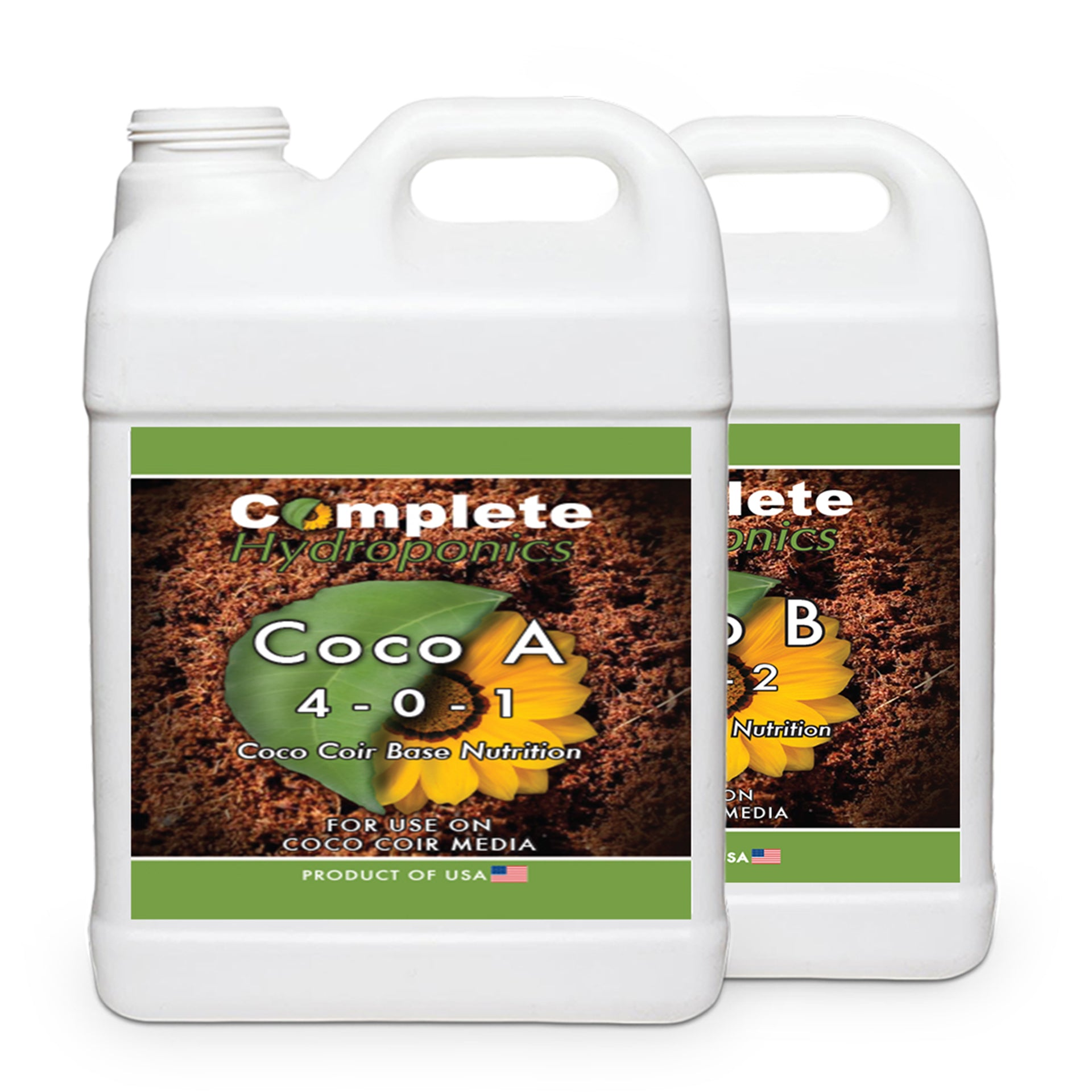 Coco A&B - Hydroponic Nutrient Solution - Perfect for Coco Coir Systems  (Enhanced with Cal-Mag)