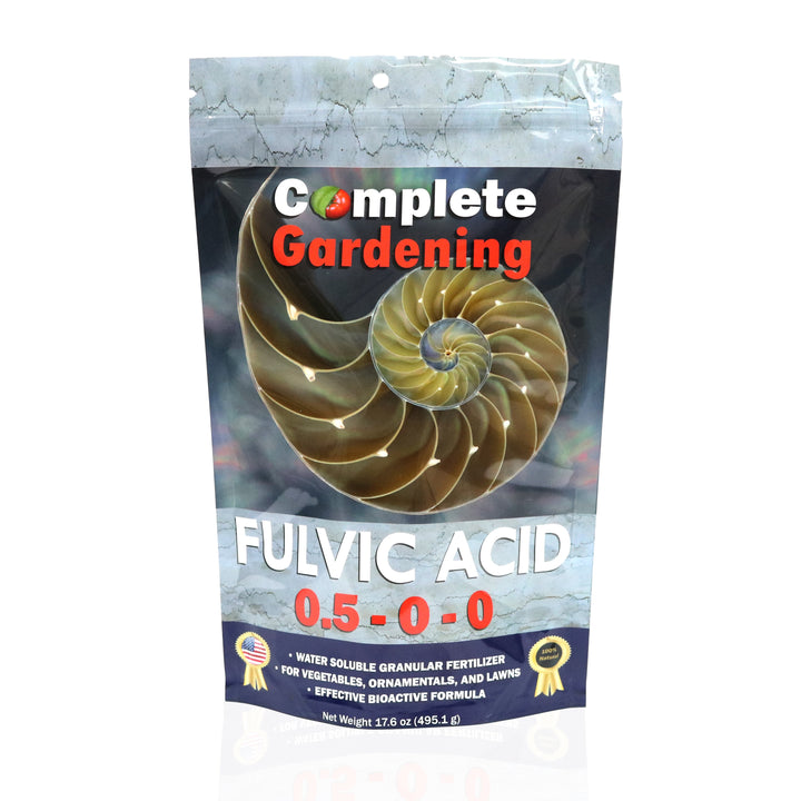 Fulvic Acid (0.5-0-0) - Natural & Organic Fertilizer - Improves ion exchange and nutrient absorption - Complete Hydroponics