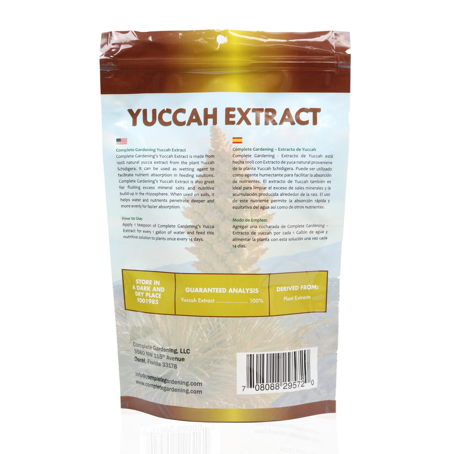 Yuccah Extract/Organic Soil Amendment/100% natural yuccah extract/Facilitates nutrient absorption - Complete Hydroponics