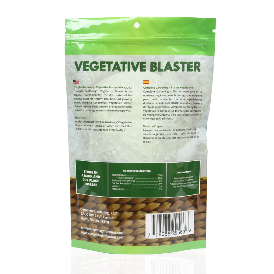 Vegetative Blaster (15-5-20)/ Made for a powerful vegetative stages - Complete Hydroponics