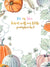 Gourd Pumpkin Baby Gender Reveal Printed Backdrop - C0157