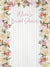 Wood Pastel Color Roses Printed Backdrop - C0189