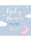 Moon and Clouds Baby Shower Printed Backdrop (Multiple Styles!)