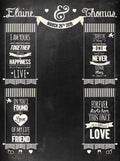 Chalkboard Wedding Printed Backdrop (Multiple Styles!)