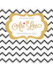 Black Chevron with Gold Detail Printed Backdrop - C042