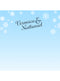 Winter Snowflake Blue Ombre Printed Backdrop - C044