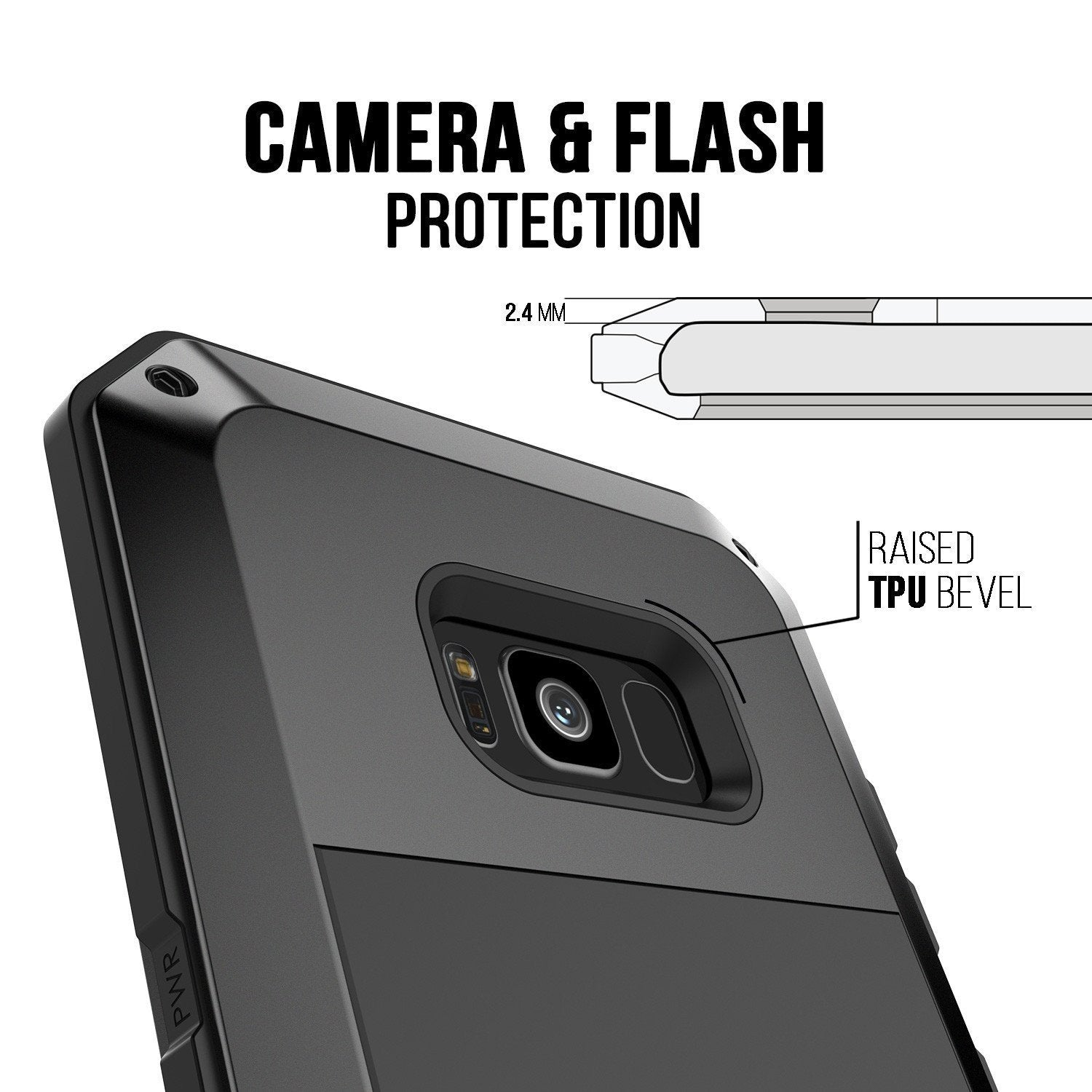 the latest 4ff07 0688f Galaxy Note 8 Case, PUNKcase Metallic Black Shockproof Slim Metal Armor Case