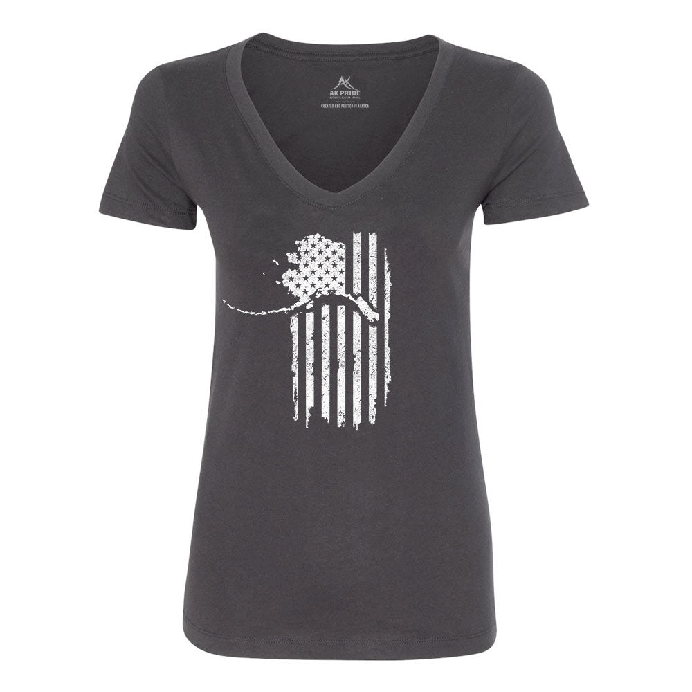 Alaskan Patriot Women's V-Neck Shirt