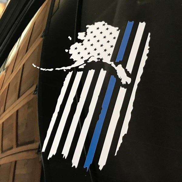 Alaskan Patriot Police Support Decal