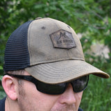 AK Pride Logo Leather Patch Hat - Brown/Black