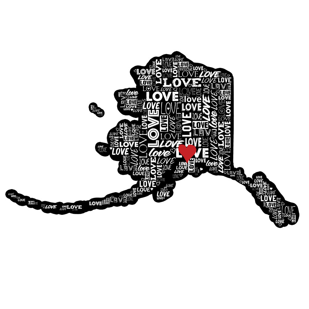 Alaska Love Sticker - SouthCentral Love!