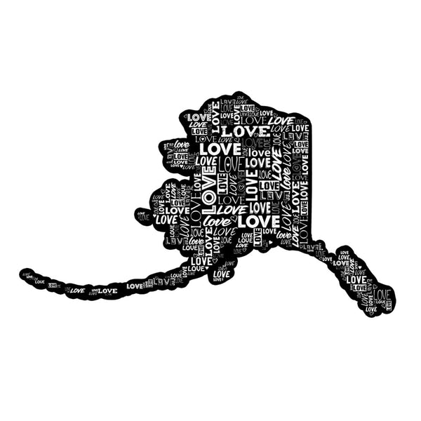 Alaska Love Sticker