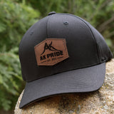 AK Pride Logo Leather Patch Hat - Black Flexfit