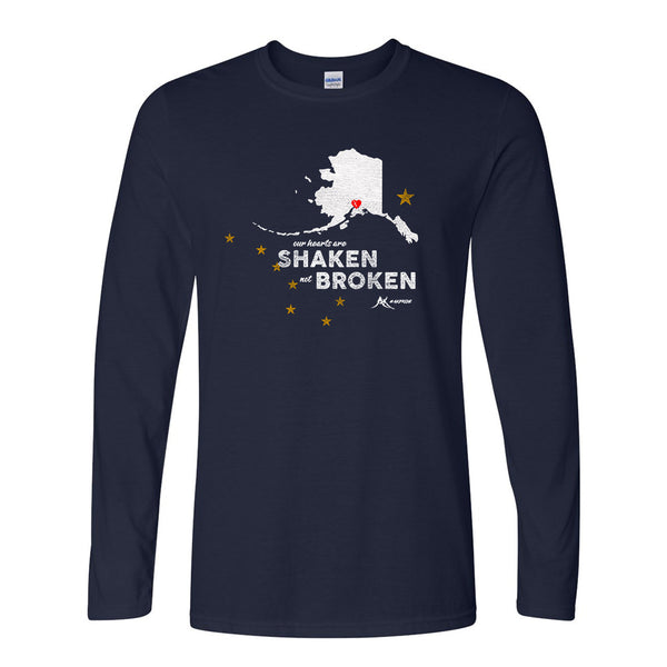 Shaken Not Broken Long Sleeve - Navy