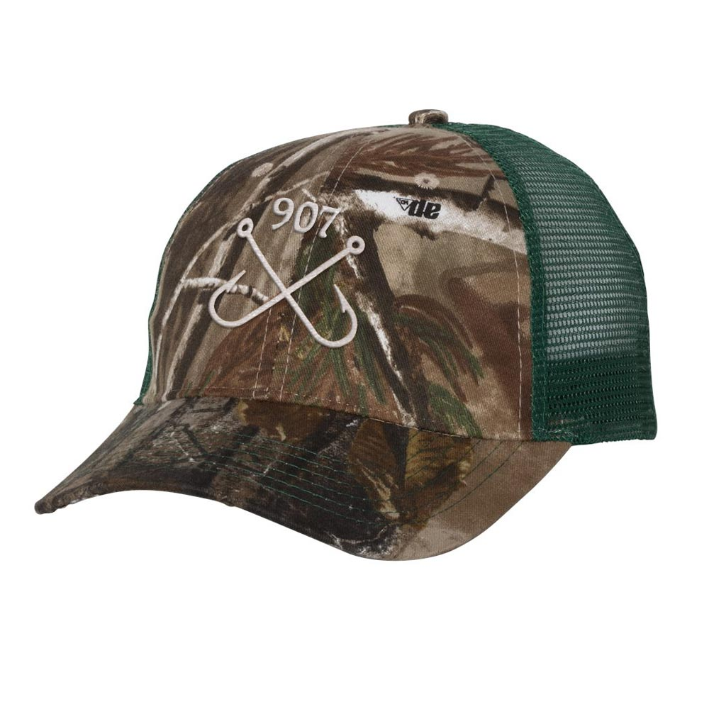 Fishing Hooks RealTree Camo Trucker Hat