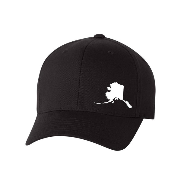 Alaska State Outline FlexFit Hat