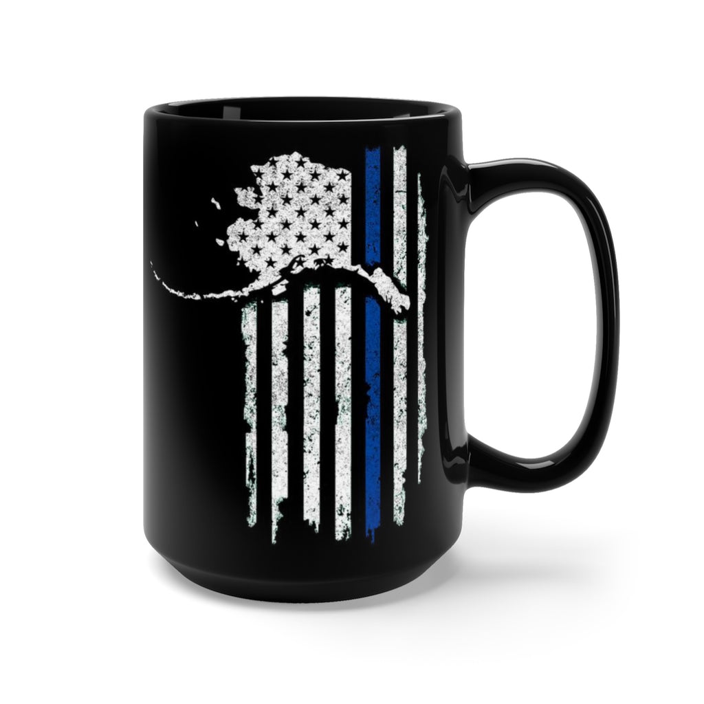Patriot Police Support Mug - Black 15oz.