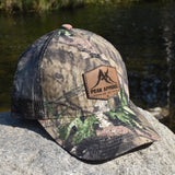 Peak Apparel Logo Leather Patch Hat - Camo