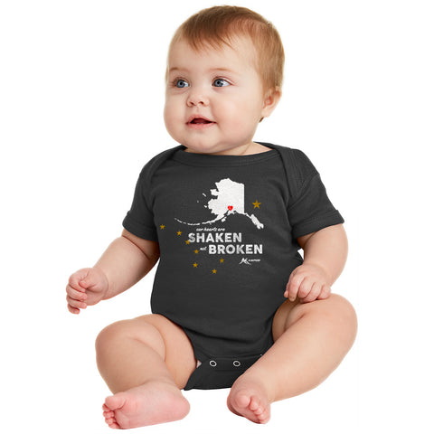 Shaken Not Broken Onesie - Black