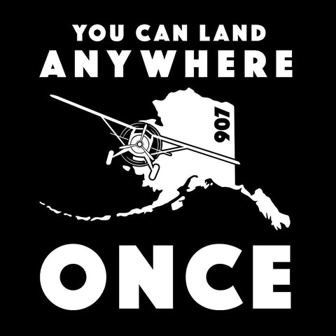 Land Anywhere Decal