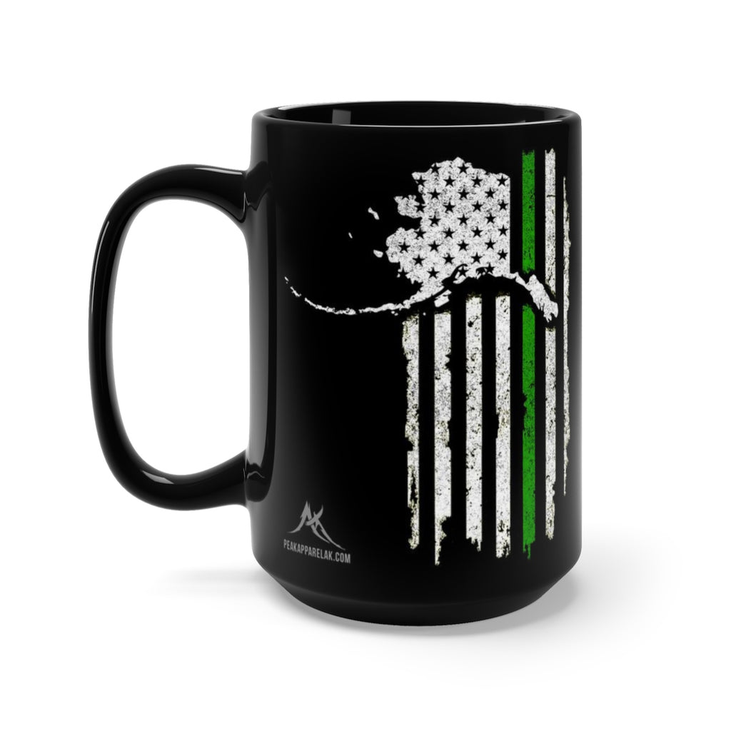 Patriot Veteran Support Mug - Black 15oz.