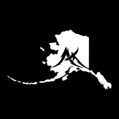 Alaska State with Mountain Eagle Decal