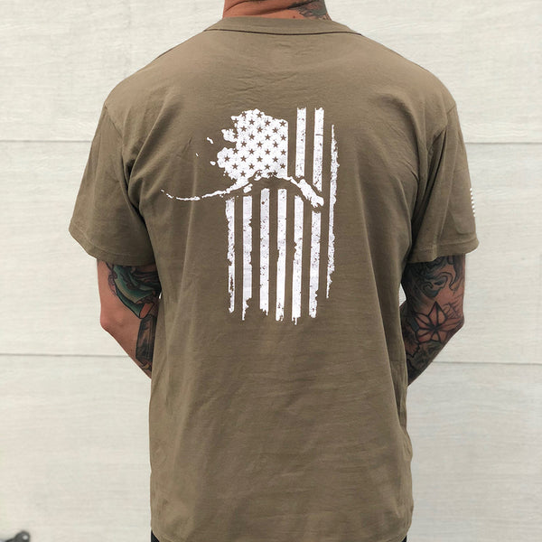 Coyote Tan 499 Military Patriot Shirt