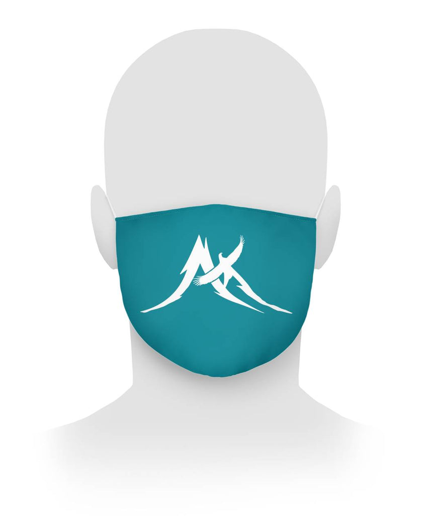 Peak Logo Teal - Cloth Face Mask