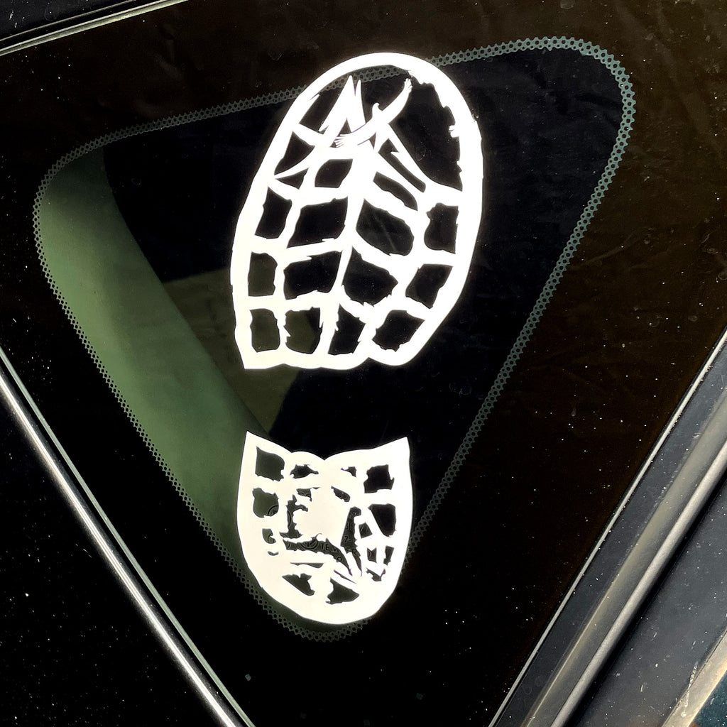 Get Out Boot Print Decal